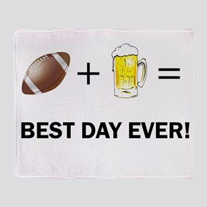 Football and Beer Throw Blanket