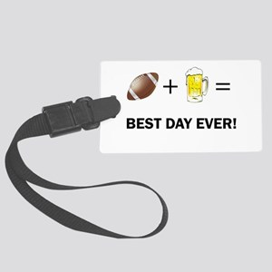 Football and Beer Luggage Tag