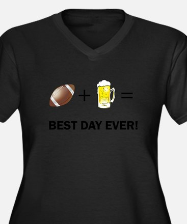 Football and Beer Plus Size T-Shirt