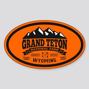 Grand Teton Vintage Sticker (Oval)