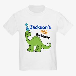 Dinosaur Birthday Kids Light T-Shirt