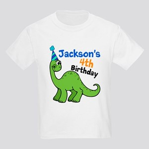 Dinosaur Birthday Kids Light T Shirt