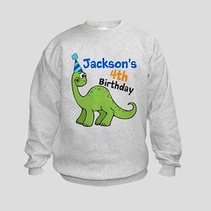Dinosaur Birthday Kids Sweatshirt