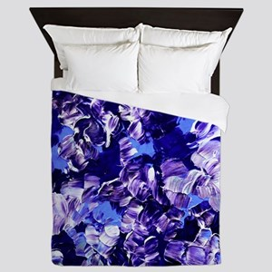 Floral Fantasy 2, Violet Purple Flowers Abstract Q