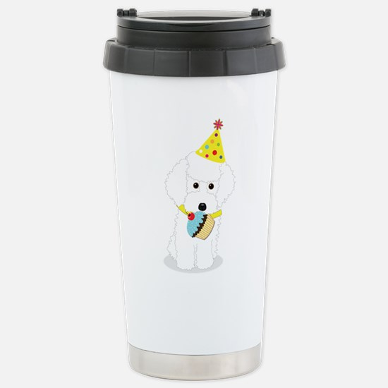 Party Poodle Birthday Dog Travel Mug