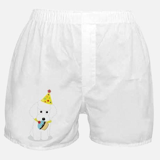 Party Poodle Birthday Dog Boxer Shorts