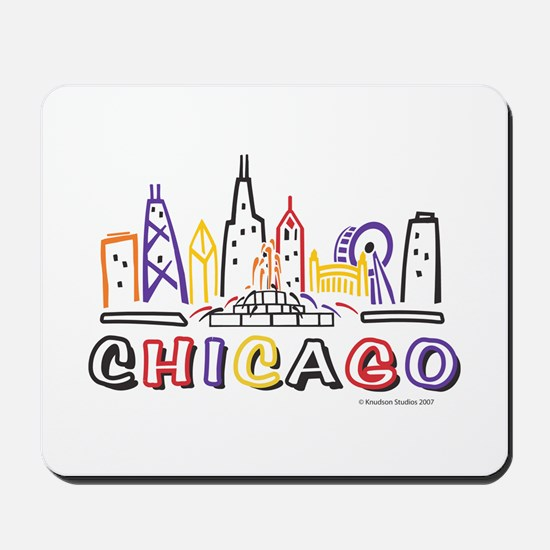 Cute Chicago Skyline Mousepad