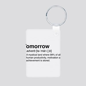 Tomorrow Definition Keychains