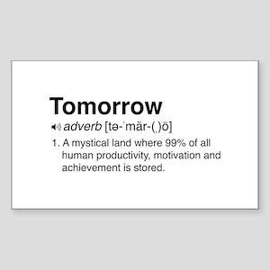 Tomorrow Definition Sticker