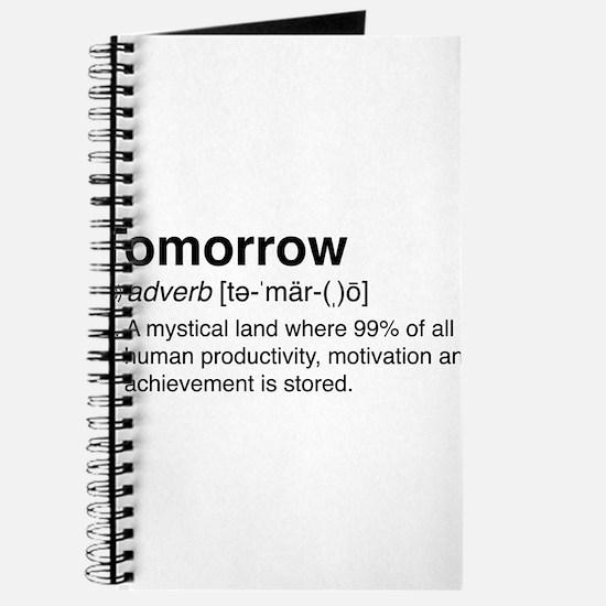Tomorrow Definition Journal