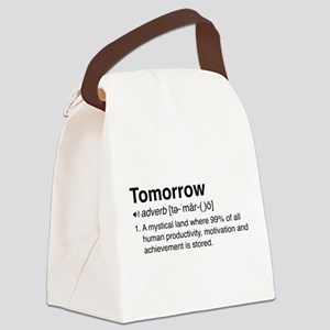 Tomorrow Definition Canvas Lunch Bag