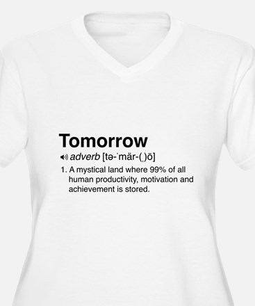 Tomorrow Definition Plus Size T-Shirt