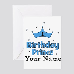 1st Birthday Prince Greeting Cards Cafepress