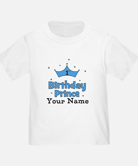 1st Birthday Prince CUSTOM Your Name T-Shirt