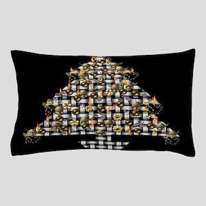 Metal Weave Skulls Tree Pillow Case