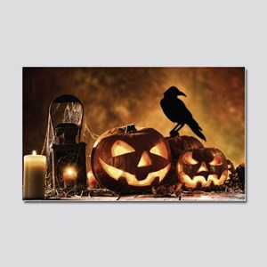 Halloween Pumpkins And A Crow Car Magnet 20 x 12