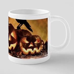 Halloween Pumpkins And A Crow Mugs