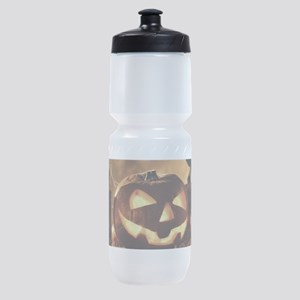 Halloween Pumpkins And A Crow Sports Bottle