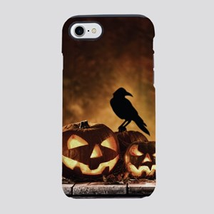 Halloween Pumpkins And A Crow iPhone 7 Tough Case