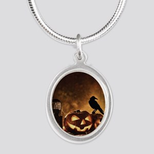 Halloween Pumpkins And A Crow Necklaces