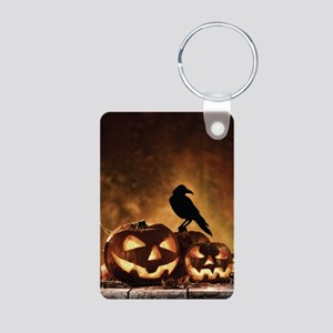 Halloween Pumpkins And A Crow Keychains