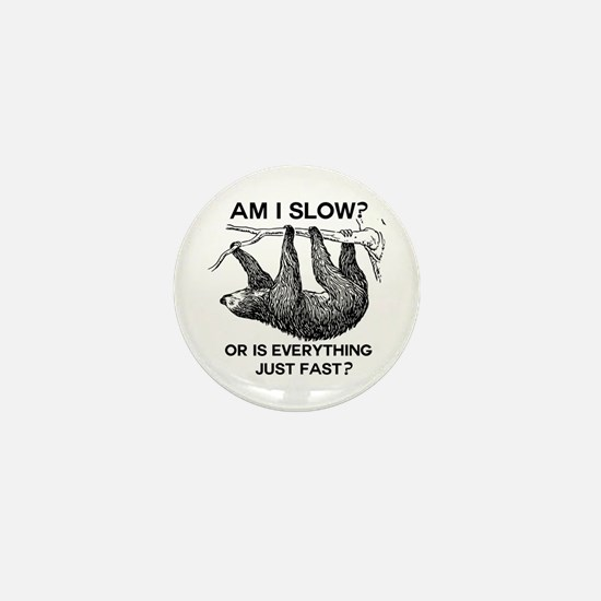 Funny Sloth Mini Button (10 pack)