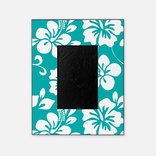 Turquoise Hawaiian Hibiscus Picture Frame