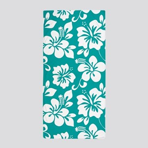 Turquoise Hawaiian Hibiscus Beach Towel