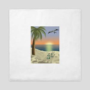 Sunset Beach Queen Duvet