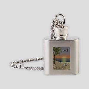 Sunset Beach Flask Necklace