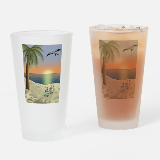 Sunset Beach Drinking Glass