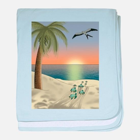 Sunset Beach baby blanket