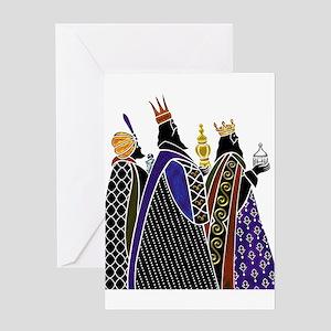 Three Magi Bearing Gifts Greeting Cards