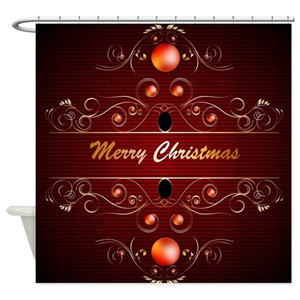 Elegant Christmas Shower Curtains