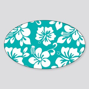 Turquoise Hawaiian Hibiscus Sticker