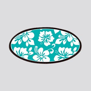 Turquoise Hawaiian Hibiscus Patches