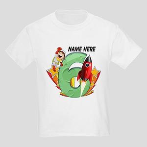 Rocket 6th Birthday Kids Light T-Shirt
