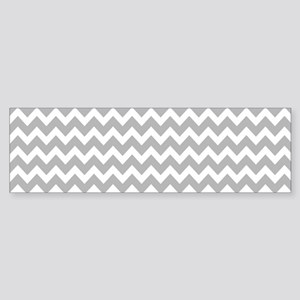 Chevrons White Lt Gray 5x7 Bumper Sticker