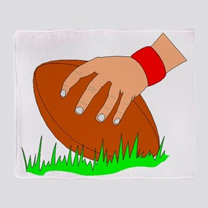 Football Snap Throw Blanket
