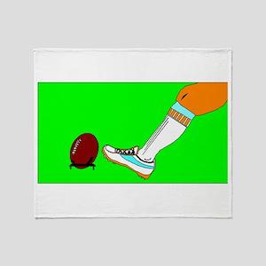 Football Kickoff Throw Blanket
