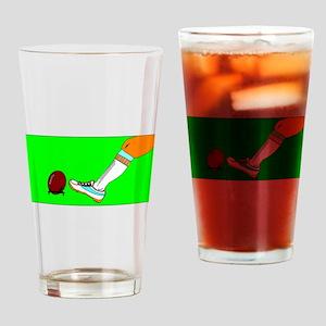 Football Kickoff Drinking Glass