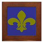 New Orleans Fleur De Lys Art Framed Tile