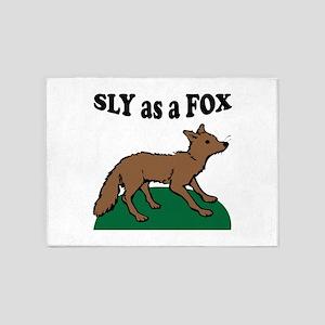 Sly As A Fox 5'x7'Area Rug