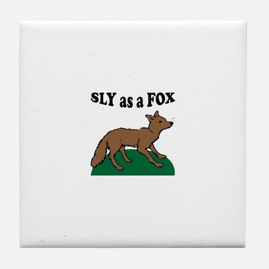 Sly As A Fox Tile Coaster