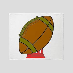 Football On A Tee Throw Blanket