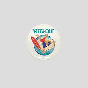 Wipe Out Surfer Mini Button