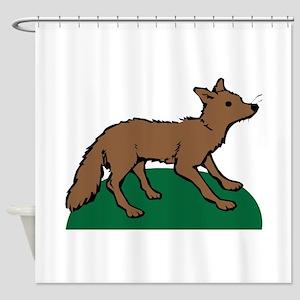 Brown Fox Shower Curtain