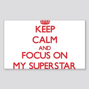 Keep Calm and focus on My Superstar Sticker