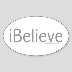 iBelieve Oval Sticker