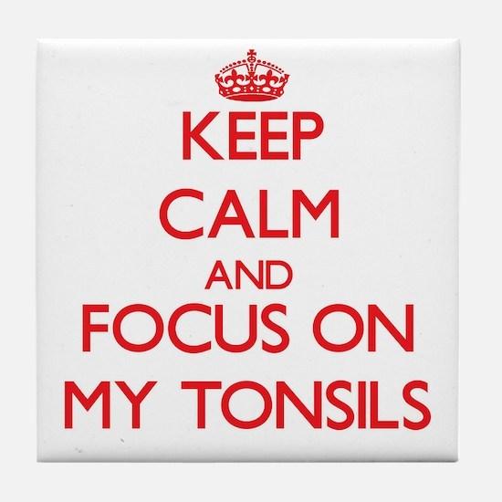 Unique Tonsillitis Tile Coaster